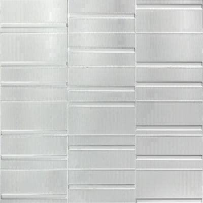 Magnitude Echo White 4 in. x 8 in. x 7.5mm Polished Ceramic Subway Wall Tile (50 pieces / 10.76 sq. ft. / box)