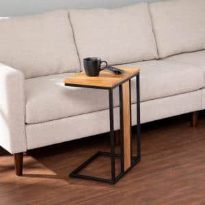 Lucia Brown and Black Contemporary C-Table