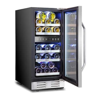 15 in. 29-Bottle Dual Zone Compressor Built-in Wine and Beverage Cooler