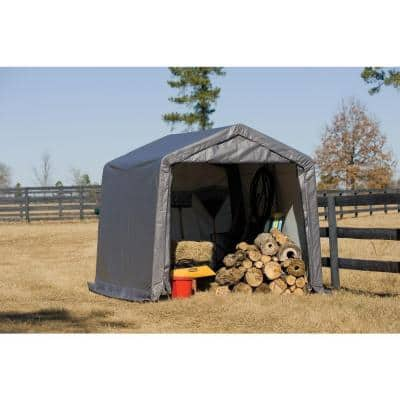 10 ft. x 8 ft. x 10 ft. Gray Shed-In-A-Box