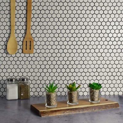 Metro Hex Matte White 10-1/4 in. x 11-7/8 in. x 5 mm Porcelain Mosaic Tile (8.65 sq. ft. /Case)