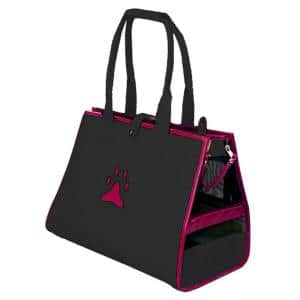 Navy Blue and Pink Posh Paw Pet Carrier - Medium