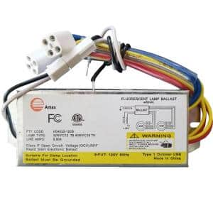 120-Volt 6.31 in. Electronic Ballast 2 Lamp FC12T9/T5 and FC16T9/T5