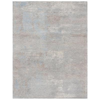 Restoration Vintage Gray/Blue 8 ft. x 10 ft. Abstract Area Rug