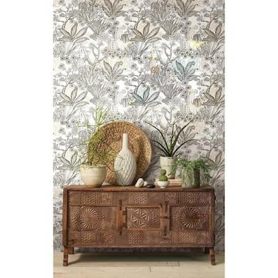 Flowering Desert Spray and Stick Wallpaper (Covers 60.75 sq. ft.)