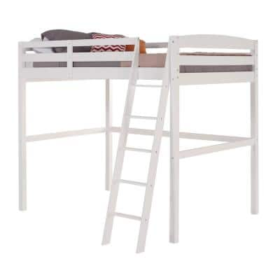 Tribeca White Twin Size High Loft Bed