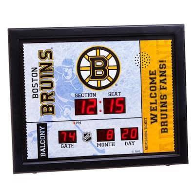 Boston Bruins NHL Bluetooth Ticket Stub Wall Clock