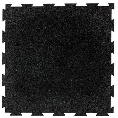 1.58 ft. x 1.58 ft. Obsidian Precision Lock Utility Rubber Flooring (25 sq. ft./Pack)