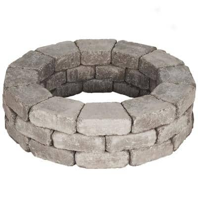 RumbleStone 39 in. x 10.5 in. Tree Ring Kit in Greystone