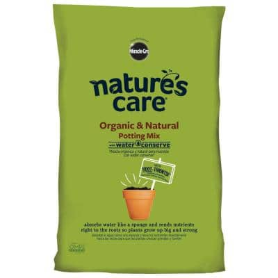 Nature's Care 16 qt. Organic and Natural Potting Mix with Water Conserve