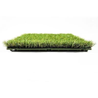 1 ft. x 1 ft. Artificial Grass Interlocking Tiles (9-Pack)