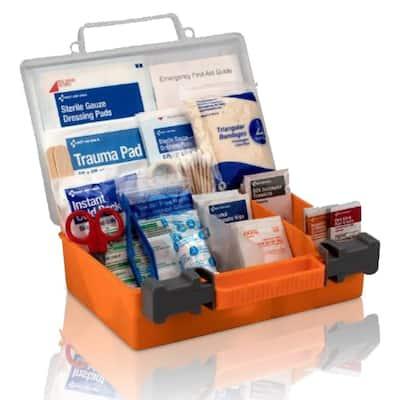 180-Piece, 25-Person Plastic OSHA First Aid Kit
