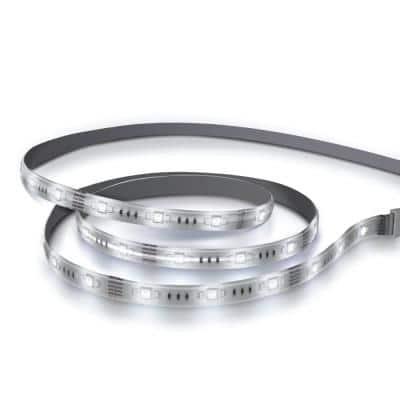 6 ft. Plug-In Integrated LED White Strip Light Cuttable and Linkable Onesync with Color Change CCT Selectable