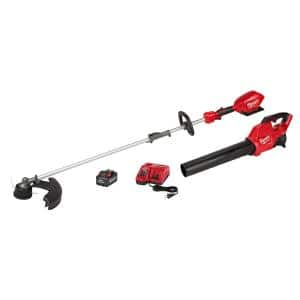 M18 FUEL 18-Volt Lithium-Ion Brushless Cordless QUIK-LOK String Trimmer/Blower Combo Kit with Battery & Charger (2-Tool)