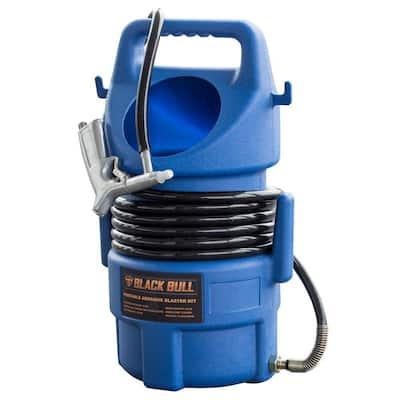 50 lbs. Capacity Portable Abrasive Sandblaster Kit with 15 ft. Hose and Blast Gun