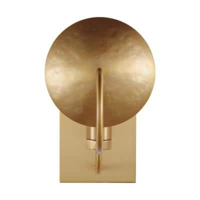 ED Ellen DeGeneres Crafted by Generation Lighting Whare 5 in. Burnished Brass Sconce