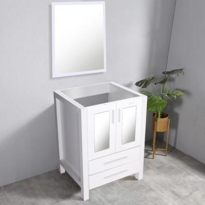 20 in. W x 32 in. H x 24 in. D Bath Vanity Cabinet Only with Mirror in White