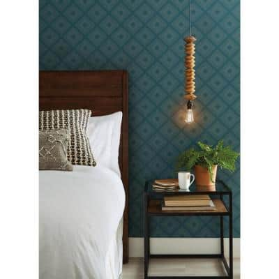 Diamond Sketch Spray and Stick Wallpaper (Covers 56 sq. ft.)