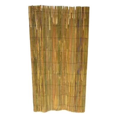 60 in. H Bamboo Slat Roll Garden Fence