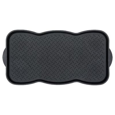 Multi-Purpose Black 30 in. x 15 in. Indoor/Outdoor Utility Boot Tray