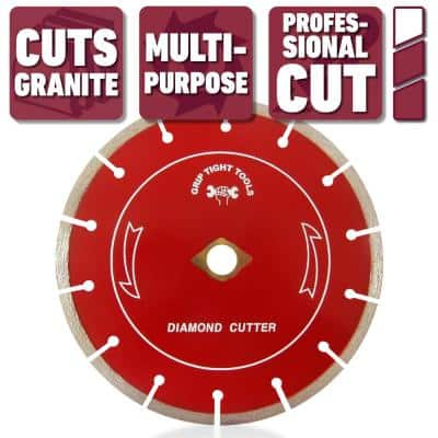 7 in. Professional Segmented Cut Diamond Blade for Cutting Granite, Marble, Concrete, Stone, Brick and Masonry (3-Pack)
