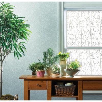 17.71 in. x 78.74 in. Bamboo Window Privacy Window Film