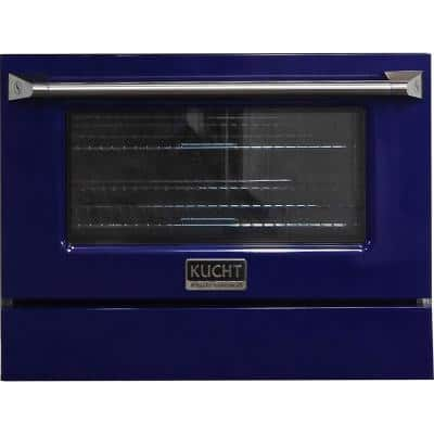 Oven Door and Kick-Plate 36 in. Blue Color for KNG361