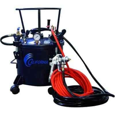 5 Gal. Pressure Pot Paint Sprayer with HVLP Spray Gun and Hose Kit