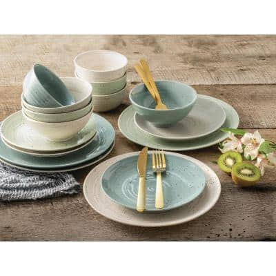 Brooklyn Artist's Park 16-Piece Mixed Stoneware Dinnerware Set (Service for 4)