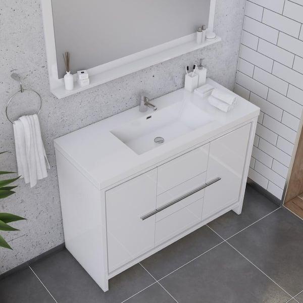 Alya Bath Sortino 48 In W X 19 D, 48 X 19 Bathroom Vanity