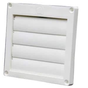 4 in. Louvered Plastic Exhaust Hood with Snap Ring (12-Pack)