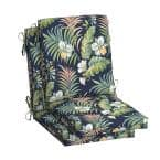 20 in.x 24 in. Outdoor High Back Dining Chair Cushion in Simone Tropical (2-Pack)
