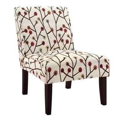 Teagan Armless Floral Accent Chair