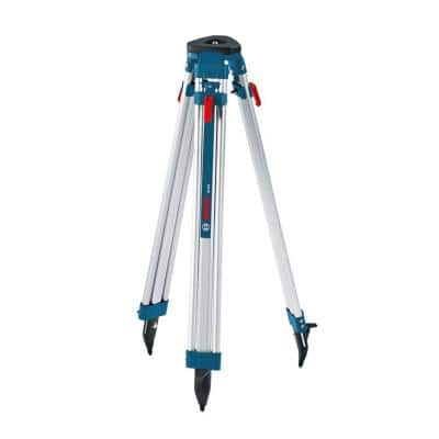 63 in. Aluminum Tripod for Rotary Laser Level with Quick Clamp and Shoulder Strap