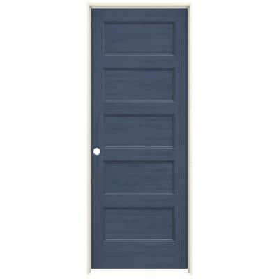 32 in. x 80 in. Conmore Denim Stain Smooth Solid Core Molded Composite Single Prehung Interior Door