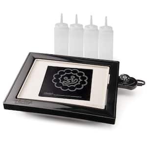112.5 sq. in. Black Non-Stick PanGogh Electric Griddle Pancake Art Kit
