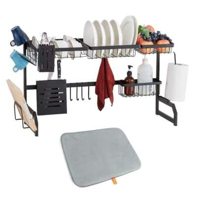 Stainless Steel Multi-function Standing Over Sink Dish Rack