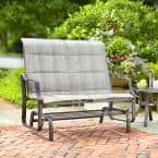 Statesville Metal Patio Outdoor Double Glider