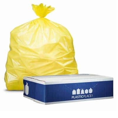 50 in. W x 60 in. H 64 Gal. 1.5 mil Yellow Toter Compatible Trash Bags (50-Case)