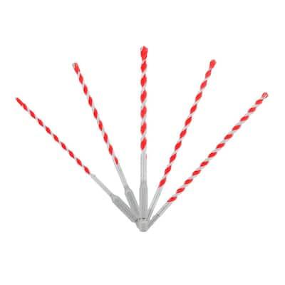SPEEDemon Red Granite Carbide Tipped Hammer Drill Bit Set (5-Pieces)