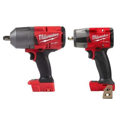 M18 FUEL 18-Volt Lithium-Ion Brushless Cordless 1/2 in. and 3/8 in. Impact Wrench with Friction Ring (2-Tool)