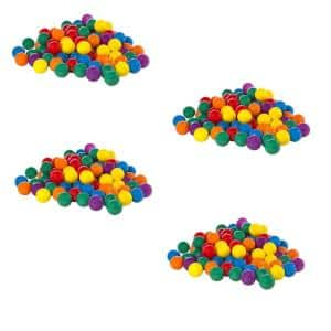 100-Pack Large Multi-Colored Plastic Fun Ballz for Ball Pits (4-Pack)