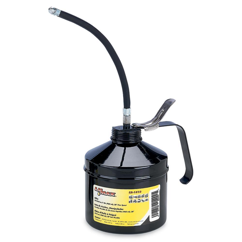 32 fl. oz./1 qt. Handled Oiler 30° Flex Spout