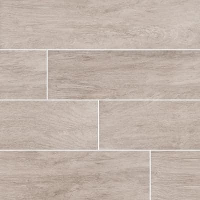 Capel Ash 6 in. x 24 in. Matte Ceramic Floor and Wall Tile (17 sq. ft./case)