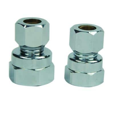 3/8 in. FIP and 1/2 in. FIP Brass Water Supply Adapter