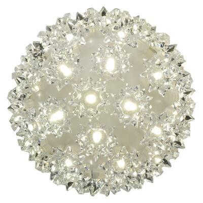 Stay Bright LED 5.5 in. 50-Light Warm White Decorative Super Sphere (4-Piece)