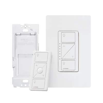Caseta 3-Way Smart Dimmer Switch Kit with Remote, 150-Watt (2 Points of Control), White