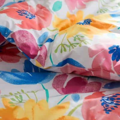 Company Cotton Blossom Multicolored Floral Cotton Percale Comforter