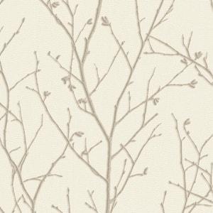 Water Silk Sprig Ivory Wallpaper Sample