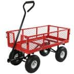 Red Heavy-Duty Steel Collapsible Log Cart
